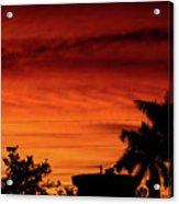 The Fire sky Acrylic Print