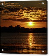 The Sunset over the Lake Acrylic Print