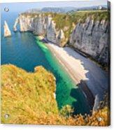The white cliffs of Etretat, the alabaster coast Acrylic Print
