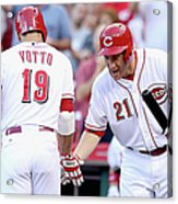 Todd Frazier and Joey Votto Acrylic Print