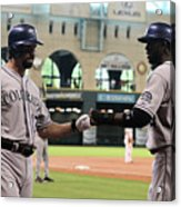 Todd Helton and Dexter Fowler Acrylic Print