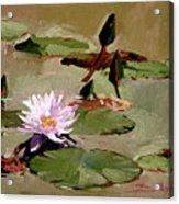 Tomorrow's Blooms- Water Lilies Acrylic Print