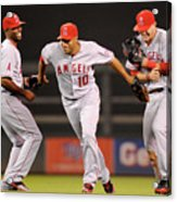 Torii Hunter, Vernon Wells, and Mike Trout Acrylic Print