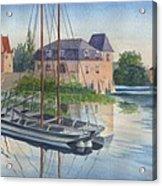 Toues on le Loir Acrylic Print