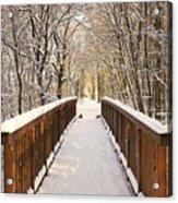 Towards The Winter Wonderland Acrylic Print
