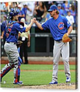 Travis Wood and Miguel Montero Acrylic Print