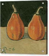 Two Orange Pumpkins Acrylic Print