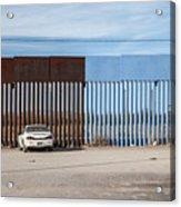 US-Mexico border fence Acrylic Print