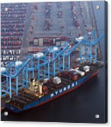 U.S. Oil Workers Threaten To Expand Strike To California Port Acrylic Print
