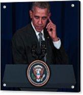 US President Barack Obama Visits Malaysia Acrylic Print