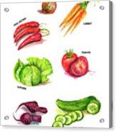 Vegetables kitchen art  Acrylic Print