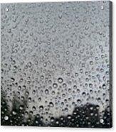 View Of Rain On Window Glass Acrylic Print