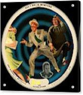 Vogue Record Art - R 714 - P 22, Yellow Logo - Square Version Acrylic Print