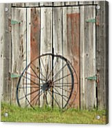 Wagon wheel - Londonderry New Hampshire Acrylic Print