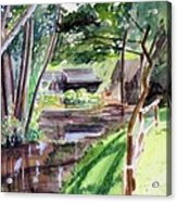 Watermill of Gemage watercolor Acrylic Print
