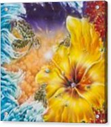 Wave of the Honu Acrylic Print