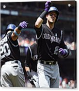 Wilin Rosario and Troy Tulowitzki Acrylic Print