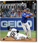 Will Middlebrooks and Starlin Castro Acrylic Print