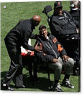 Willie Mays, Barry Bonds, and Willie Mccovey Acrylic Print
