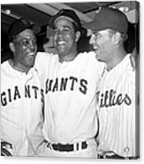 Willie Mays, Juan Marichal, and Johnny Callison Acrylic Print