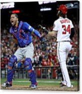 Willson Contreras and Bryce Harper Acrylic Print