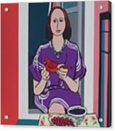 Woman, Bird, and Berries - A Tribute to Henri Matisse Acrylic Print