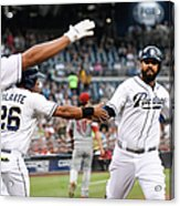 Yangervis Solarte, Will Venable, and Matt Kemp Acrylic Print