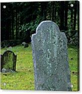 Ye Olde Cemetery - Danville New Hampshire Acrylic Print