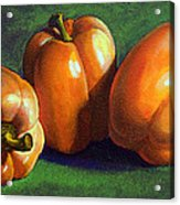 Yellow Peppers Acrylic Print