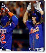 Yoenis Cespedes, Alex Wood, and David Wright Acrylic Print
