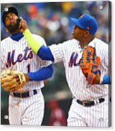 Yoenis Cespedes and Amed Rosario Acrylic Print