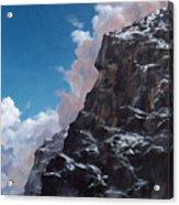 Yosemite cliff face Acrylic Print