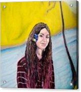 Young Mona Lisa Acrylic Print