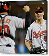 Zach Britton and Nick Hundley Acrylic Print