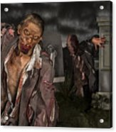 Zombies in the graveyard Acrylic Print