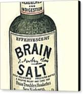 1890s Uk Brain Salt Headaches Humour Canvas Print