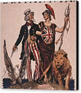 1918 1910s Usa Uncle Sam Ww1  Lions Canvas Print