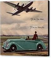 1940s Uk Aviation Hawker Siddeley Cars Canvas Print