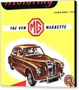 1950s Uk Cars Mg Magnette Covers Canvas Print