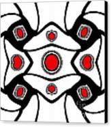 Abstract Geometric Black White Red Art No. 380. Canvas Print by Drinka Mercep