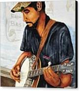 Banjo Player Canvas Print by John W Walker