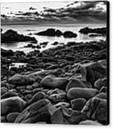 Boulders At Sunrise Marginal Way Canvas Print by Jeff Sinon