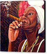 Cigar Lady Canvas Print
