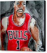Derrick Rose Canvas Print by Sidney Holmes