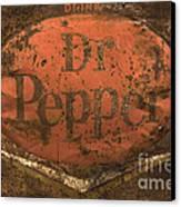 Dr Pepper Vintage Sign Canvas Print by Bob Christopher