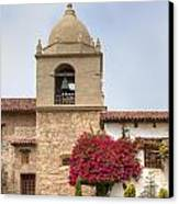 Facade Of The Chapel Mission San Carlos Borromeo De Carmelo Canvas Print by Ken Wolter