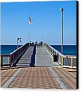 Fishing Pier Canvas Print by Susan Leggett