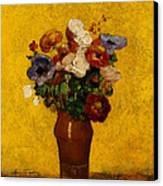 Flowers Canvas Print by Odilon Redon