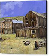 Ghost Town Of Bodie-california Canvas Print by Guido Borelli