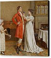 I Wish You Luck Canvas Print by George Goodwin Kilburne